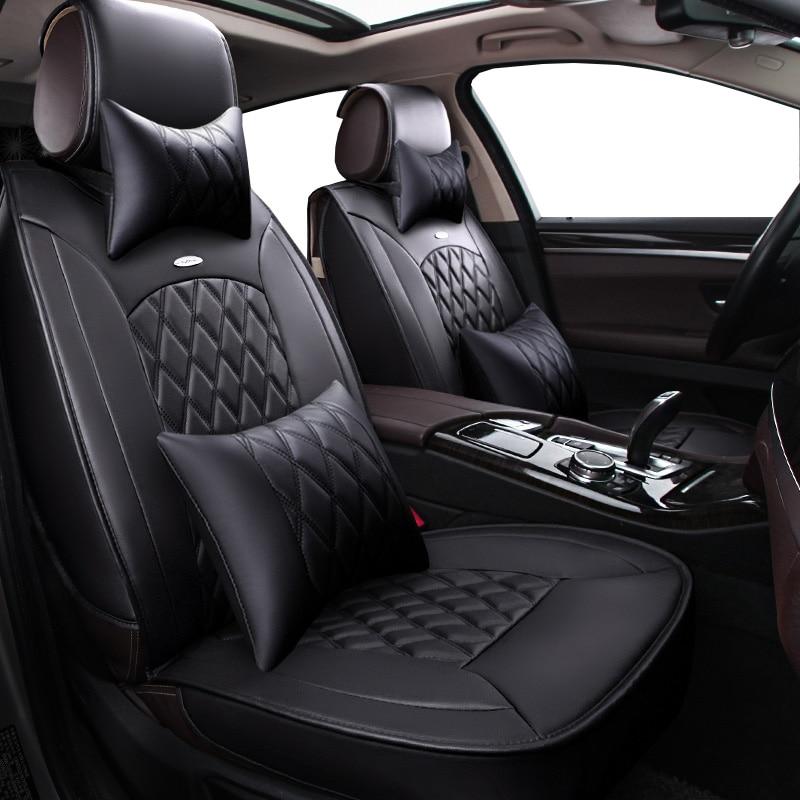 цена на New Pu leather Auto Car Seat Covers Universal Automotive car seat cover for Honda accord 7 8 9 civic CRV CR-V 2017 2016 2015