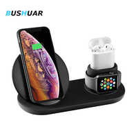 Wireless Charger Fast Charging for iPhone 8 X XS Max XR Apple Watch 4 3 2 Airpods 3 IN 1 Quick Charge 3.0 For Samsung S10 S9 S8