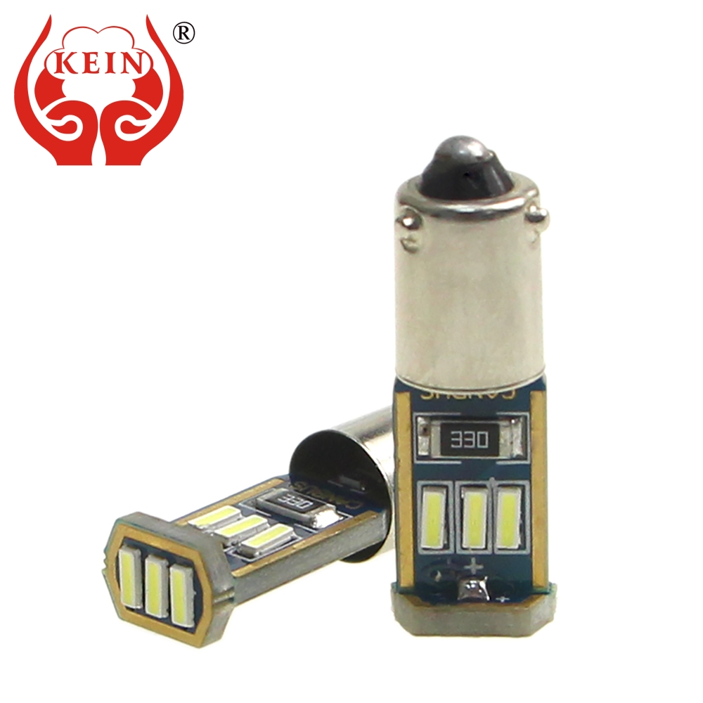KEIN 4PCS ba9s <font><b>led</b></font> t4w BAX9S <font><b>BAY9S</b></font> h6w <font><b>h21w</b></font> Canbus Error Free 4014 9SMD <font><b>LED</b></font> auto car license plate reading lights bulbs lamp 12V image