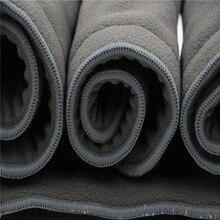 Лучший!  Моющийся подгузник для взрослых  5 слоев  бамбуковый уголь  ткань  подгузник  супер абсорбент  много