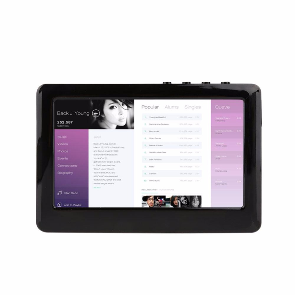 MVpower 4.3 pouces Premium EU prise HD écran tactile 8 GB MP3 MP4 MP5 lecteur numérique vidéo médias Ebook films FM Radio enregistreur
