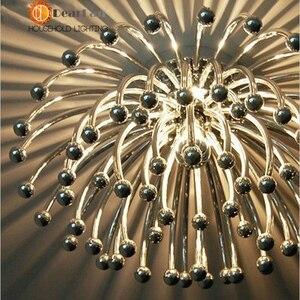 Image 5 - Criativo moderno Candeeiros de Tecto, prata Banhado Acrílico Coral Luzes Para Sala/Quarto/Cozinha Sala Para Decoração (XP 50)