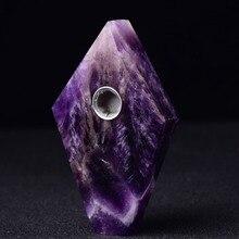 Природные кристаллы аметиста мечты ромб кварцевые курительная трубка-палочка заживляющий табак