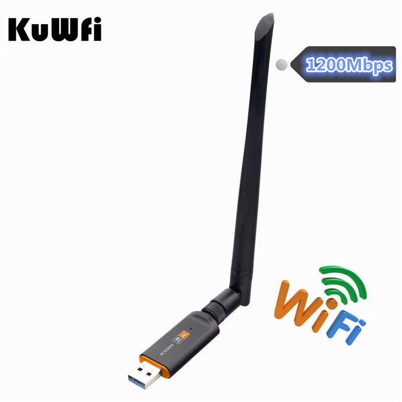 1200 Mbps USB Wifi Lan adaptador de Dongle 2,4 GHz 5,8 GHz USB3.0 RTL8812BU Wireless-AC tarjeta de red para MAC /Linux OS/Windows7/8/10