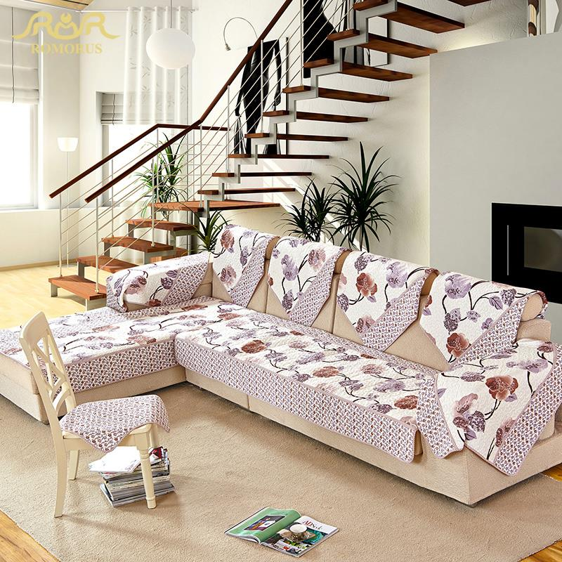 Romorus decorative sofa cover sectional non slip cover for Decorative furniture covers