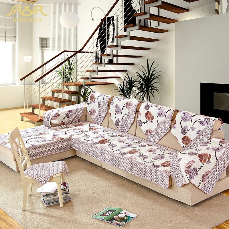 ROMORUS Decorative Sofa Cover Sectional Non slip Cover