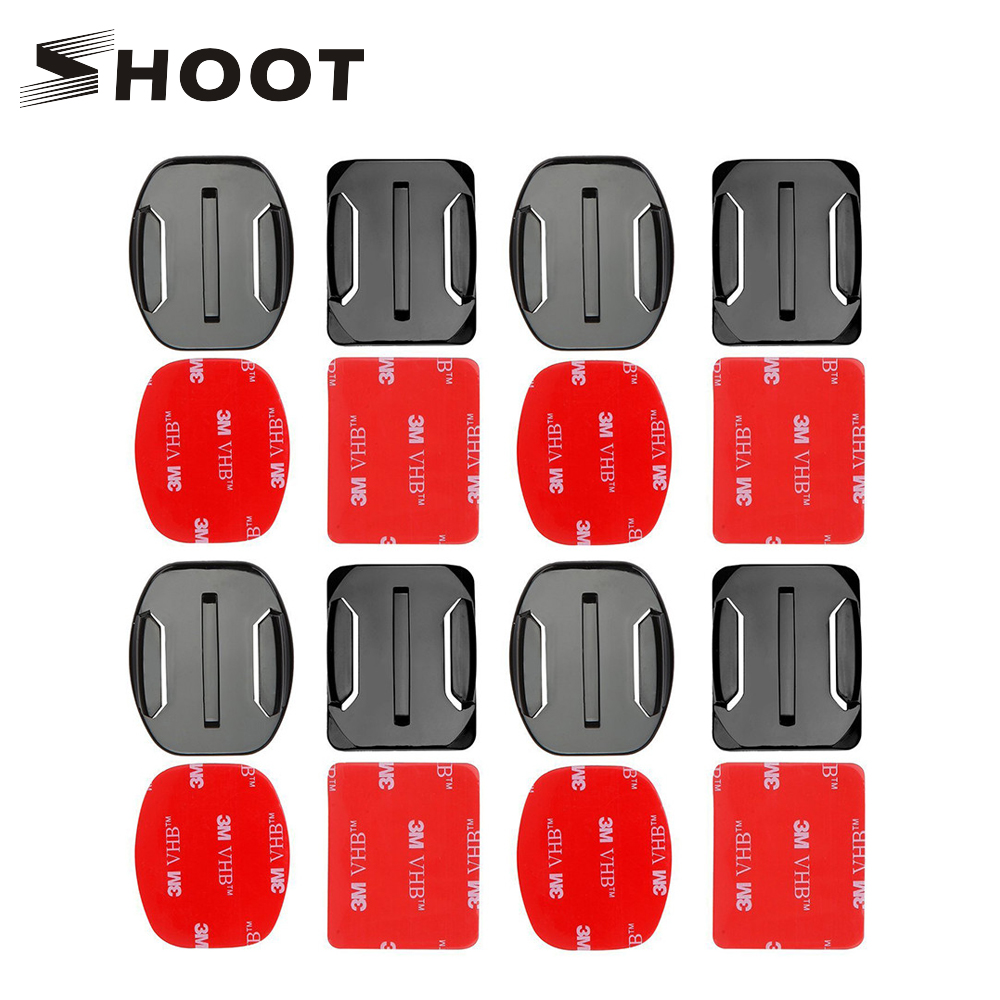 SHOOT Flat Curved Surface Base Mount with VHB Adhesive Sticker For Gopro Hero 5 4 3