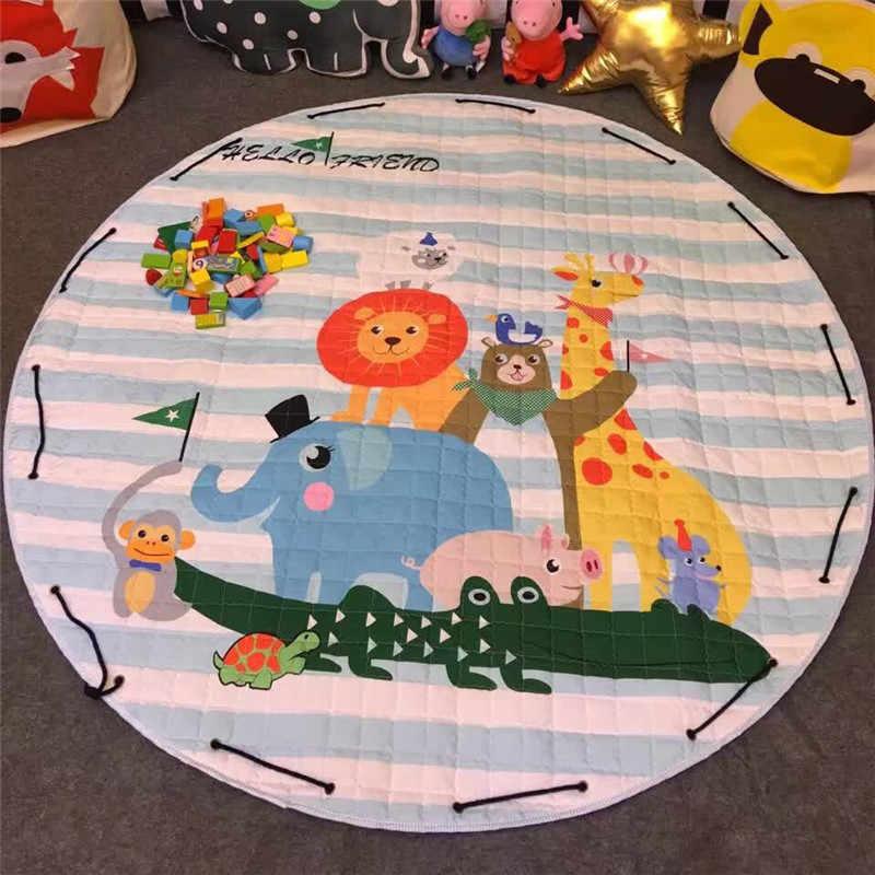 หมีกาแฟเด็ก playmat Antiskip พรม Girl Room MAT 150*150 เก็บชายหาดกลางแจ้ง Crawling Pad เด็กเกมการ์ตูน