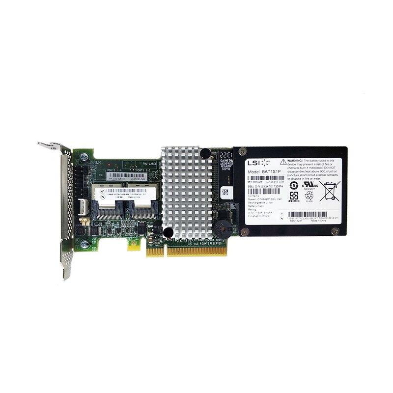 LSI MegaRAID SAS 9260 8i LSI00198 8 ميناء 512MB مخبأ SFF8087 6Gb RAID0.1.5 PCI E 2.0 X8 بطاقة وحدة التحكمأضف على البطاقات   -