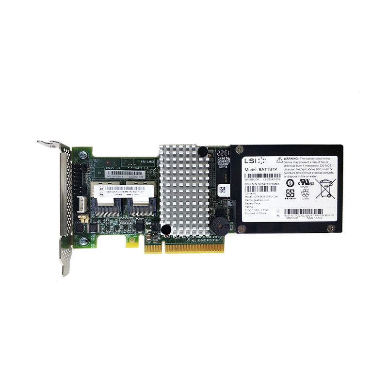 LSI MegaRAID SAS 9260 8i LSI00198 8 port 512MB cache SFF8087 6Gb RAID0.1.5 PCI E 2.0 X8 Controller Card-in Add On Cards from Computer & Office
