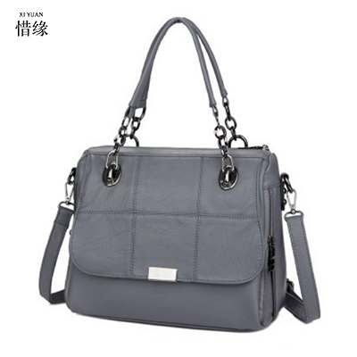 XIYUAN BRAND Leather Women Messenger Bags Handbags Woman Famous Brands Shoulder Crossbody Bag High Quality Tote Bag women Gift