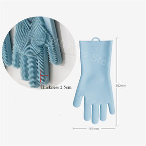 Image 5 - Youpin JJ Magic Silicone Cleaning Gloves Insulation non slip Dishwashing Glove Double sided Wear Gloves for Home Kitchen