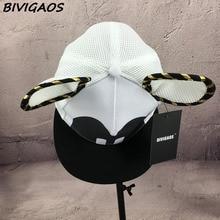 Cartoon Big Mouse Ears Eyes Hats Mesh Cap Hip Hop Baseball Caps Female Topee Sun Hat For Women