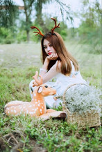 antler headband with reindeer antlers women christmas party decoration supplies gift