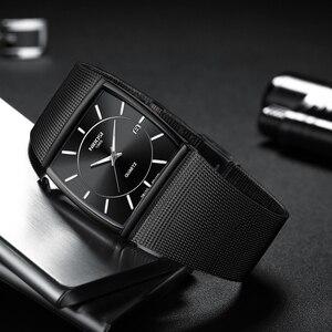 Image 4 - Nibosiクリエイティブスクエアメンズ腕時計スポーツレロジオmasculino腕時計男性relojesステンレス鋼軍事防水腕時計