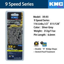 KMC X8 X8EPT X9 X9EPT X10EPT X11 X11EPT MTB Road Bike Chain 116L 8s 9s 10s 11s Bicycle Chain Magic Button Mountain