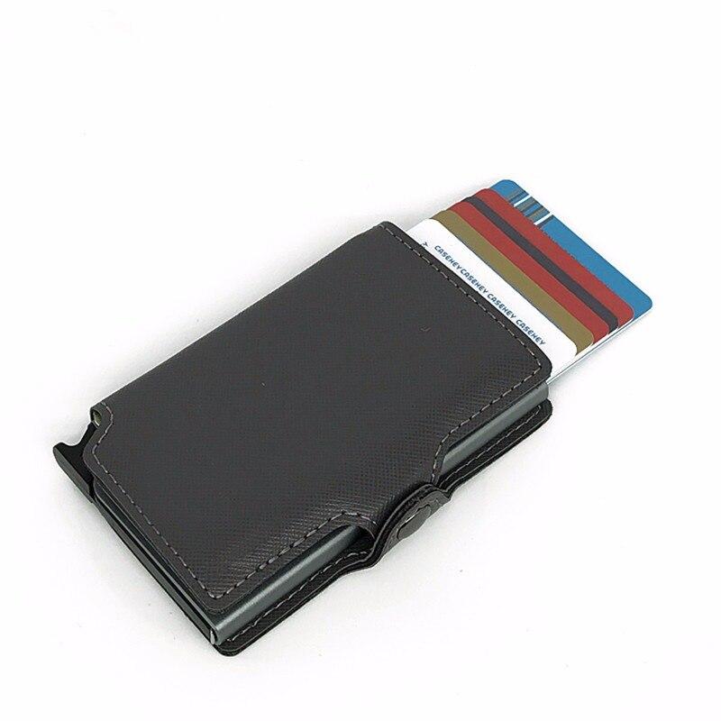 Online Shop CaseKey Free Shipping Antitheft Men Wallet Leather Mini ...