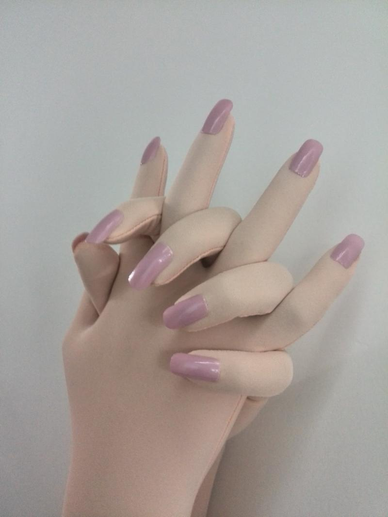 Luxury Customized Nails Service For Skin Zentai Gloves With Fake Nail Art Quality Tights