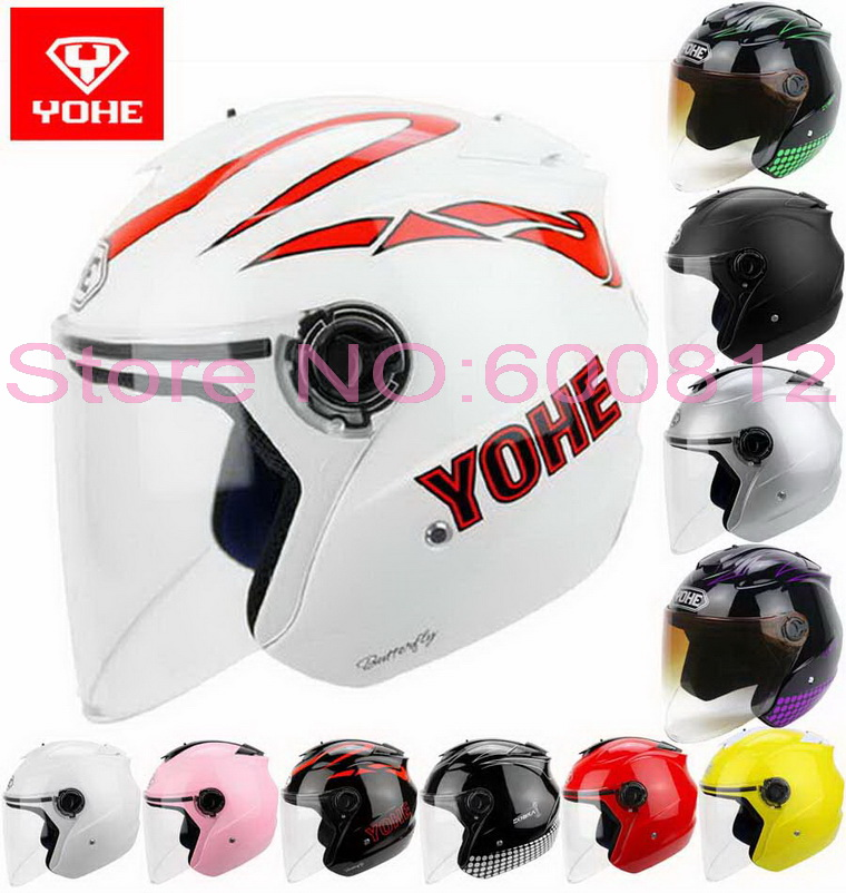 2016 summer New YOHE half face motorcycle helmet YH-882B electric bicycle motorbike helmets made of ABS UV sunscreen FREE SIZE ...