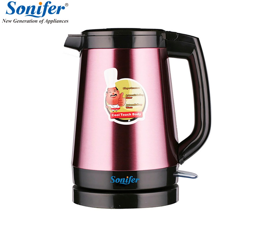 1.8L Colorful Thermal Insulation Stainless steel Electric Kettle Household Quick Heating Electric Boiling Pot Sonifer household stainless steel electrical stainless steel electric water heating pot insulation electric kettle cup boiler 850w 5l eu