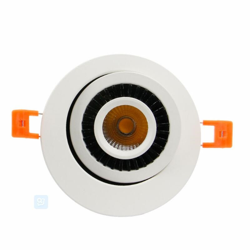 Factory Wholesale price Dimmable 7W 10W 15W 360 Degrees Rotatable COB led Ceiling down light Lamp Driverless LED Downlight in LED Downlights from Lights Lighting