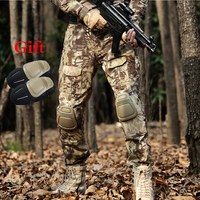 Men's Tactical Pants With Knee Pads Outdoor Camouflage Mens Hunting Pants Men Military Training Combat Pants Sports Hiking Pants