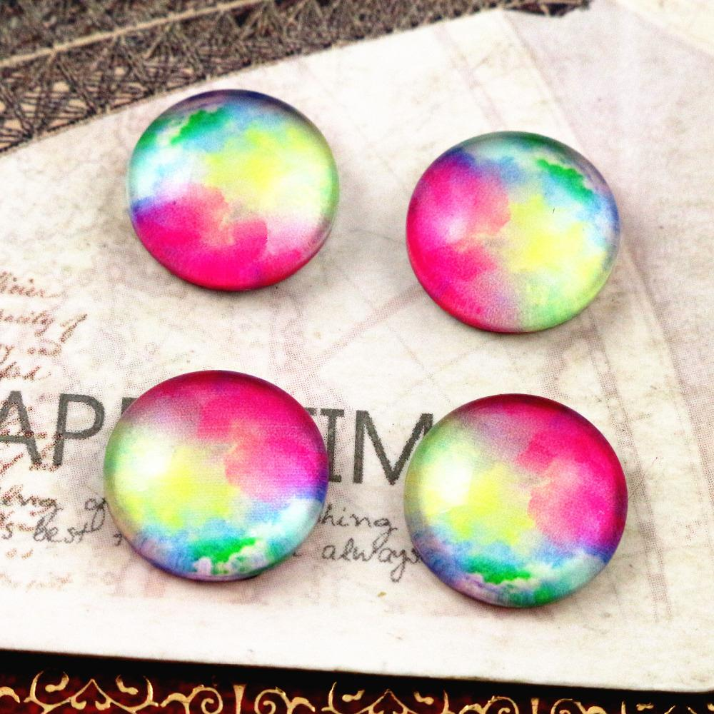 New Fashion  20pcs 12mm Handmade Photo Glass Cabochons E3-54