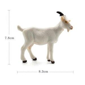 Image 2 - Fattoria Bianco di Pecora Capra Simulazione modello Animale giocattolo Action figure in plastica Decorazione Del Mestiere educativi Regalo Di Natale Per I Bambini