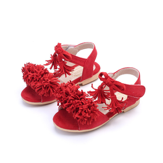 2018 New style fashion baby shoes Girl Sandals Princess Girls Sandals  Flower Girl Summer Nubuck Dancing shoes cccfda3f83cf