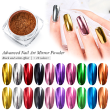 RBAN NAIL 0.2g Nail Glitter French Polish Holographic Manicure Mirror Powder Metallic Color Art