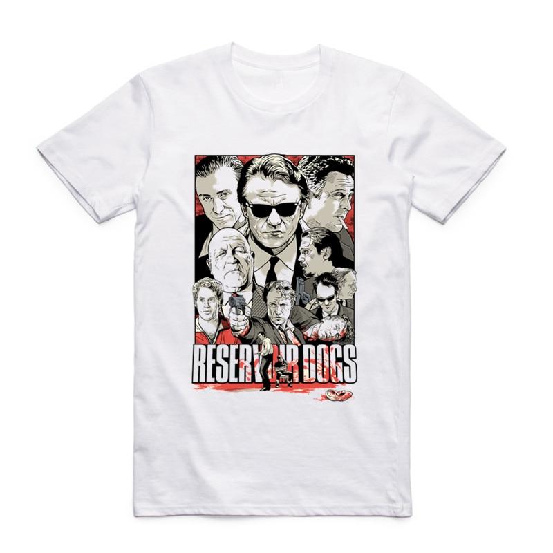 S-XXX Men Women Reservoir Dogs Quentin Tarantino Print White T-shirt Short sleeve O-Neck Homme Harajuku Casual Cool Tshirt