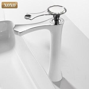 Image 2 - XOXO grifo de lavabo moderno de diamante, negro y dorado, para baño, 20085G