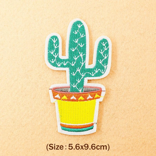 Cactus Iron On Patches