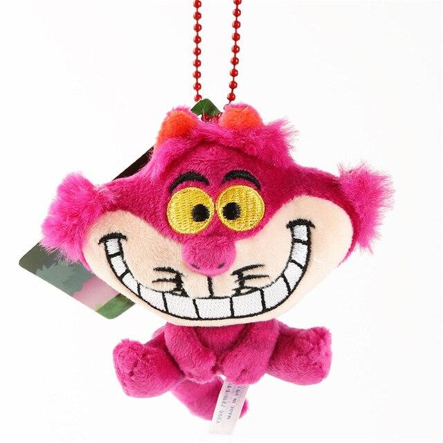 10 centímetros chaveiro Gato de Cheshire de Alice No País Das Maravilhas Cheshire Cat Bonito Mini Coisas Boneca de Brinquedo de Pelúcia Pingente de Presente de Aniversário Da Menina dhl toy212