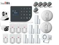SmartYIBA WIFI GSM Alarm System Arm Disarm Burglar Alarm Wireless Wired Home Security Alarm APP Remote Control Outdoor IP Camera