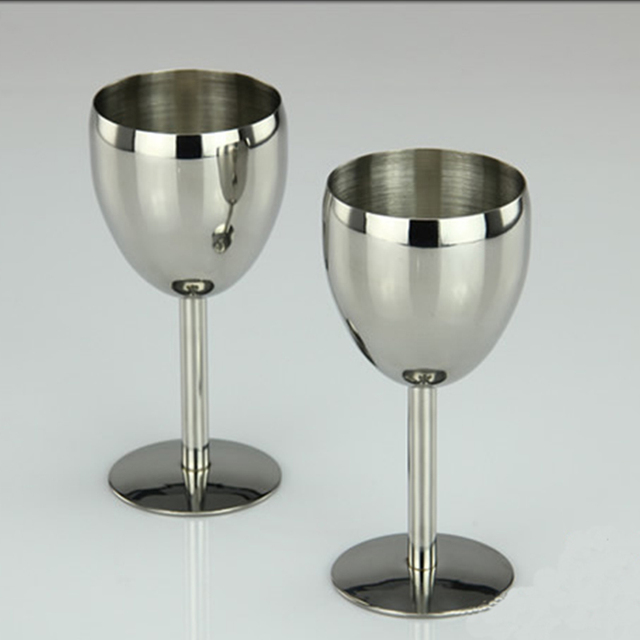 Stainless Steel Wine Glass 2 pcs Set
