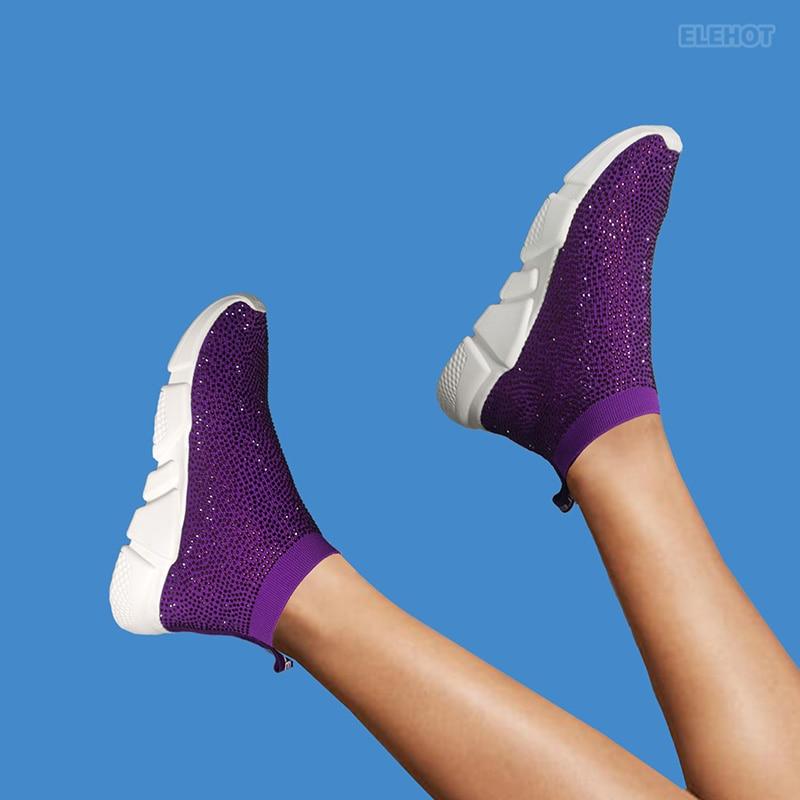 Elehot Violet Dress Shoes Sneakers