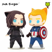 Mr Froger Captain America Figures Pop Winter Soldier Action Figure Chibi Anime Super Heroes Toys Car