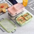 GUNOT Ланч-бокс отдельные отсеки герметичная Bento коробка с Сумка-термос для еды школьный ланчбокс для пикника школы Microwavable