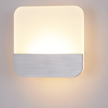 6W Acryl Square Modern LED Wall Lamp Home Indoor Lighting Wall Sconce,Arandela Lamparas De Pared цена