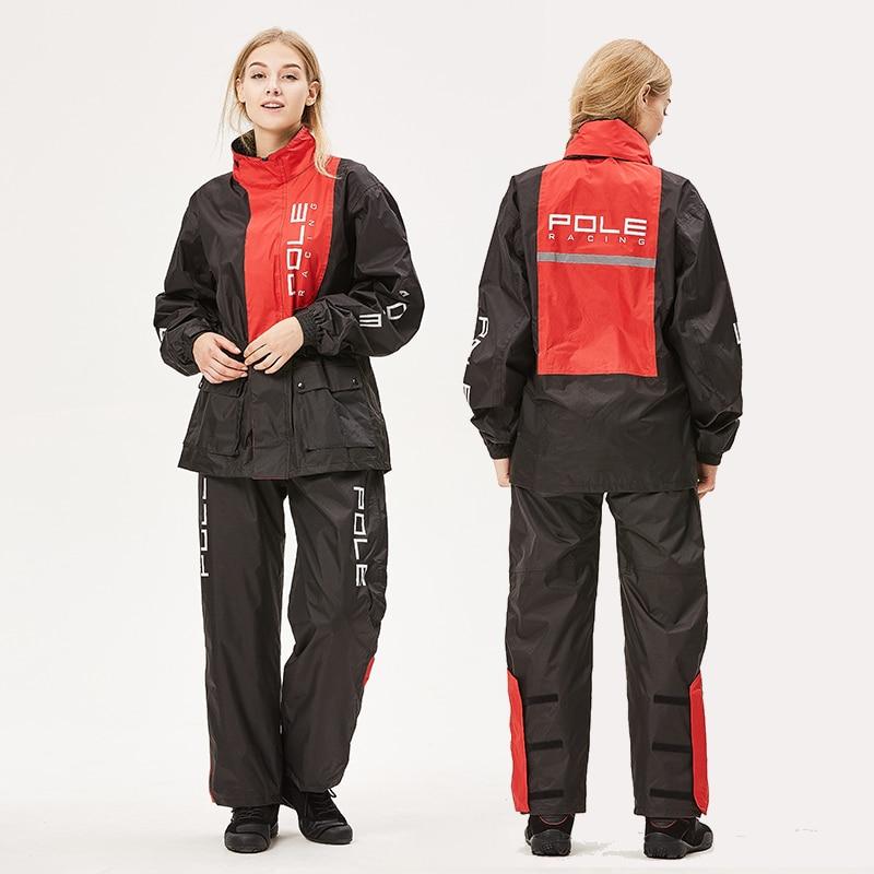 Motorcycle Breathable Raincoat for Men and Women Summer Waterproof Suit Adult Split Rain Coat and Pants Rainwear Hooded Poncho