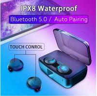 TWS IPX8 Waterproof wireless earphone bluetooth5.0 Touch Control Headset mini in ear earbuds Auto Pairing for iPhone XS max