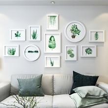 Φρέσκα φυτά Εικόνες Κορνίζες Γύρος ορθογώνιο Λευκά πλαίσια για διακοσμήσεις τοίχων Οικογενειακές φωτογραφίες γάμου Πλαίσιο quadros de parede para sala