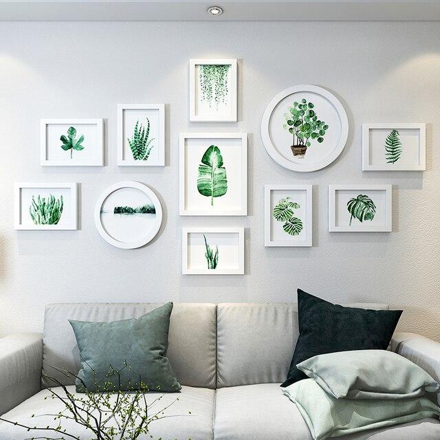 Plantes Fraîches Photos Cadres Rond Rectangle Blanc Cadres Pour Décoration  Murale Famille Mariage Photos Cadre Quadros