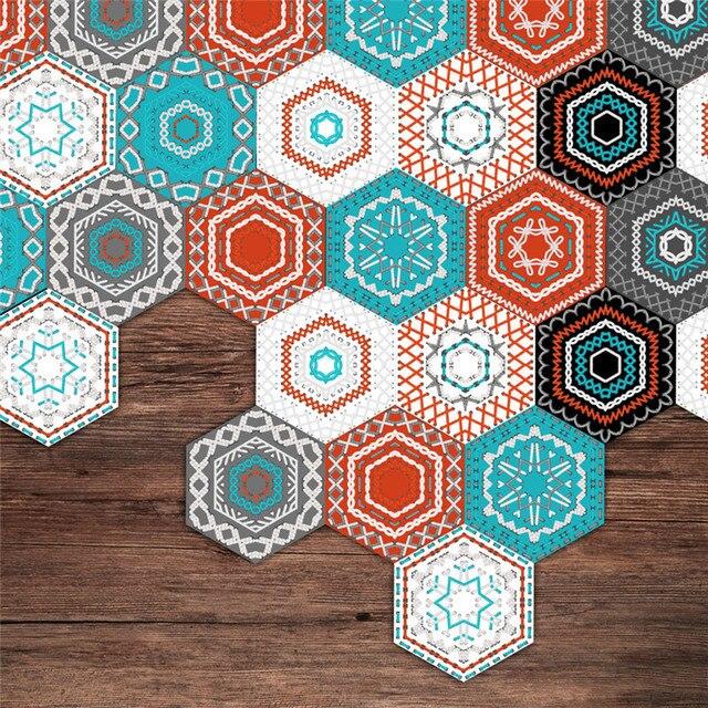 10pcs 20x23cm Bohemia Style Diy Wall Stickers Kitchen Bathroom Floor