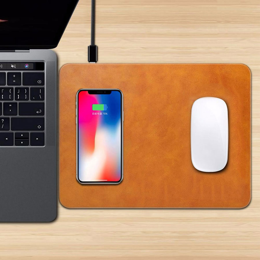 2 in 1 Qi Wireless Charger Mouse Pad Mat for iPhone X XR XS Max 8 Plus Samsung S10 S9 Plus Note 9/8 Phone Wireless Charging Pad2 in 1 Qi Wireless Charger Mouse Pad Mat for iPhone X XR XS Max 8 Plus Samsung S10 S9 Plus Note 9/8 Phone Wireless Charging Pad