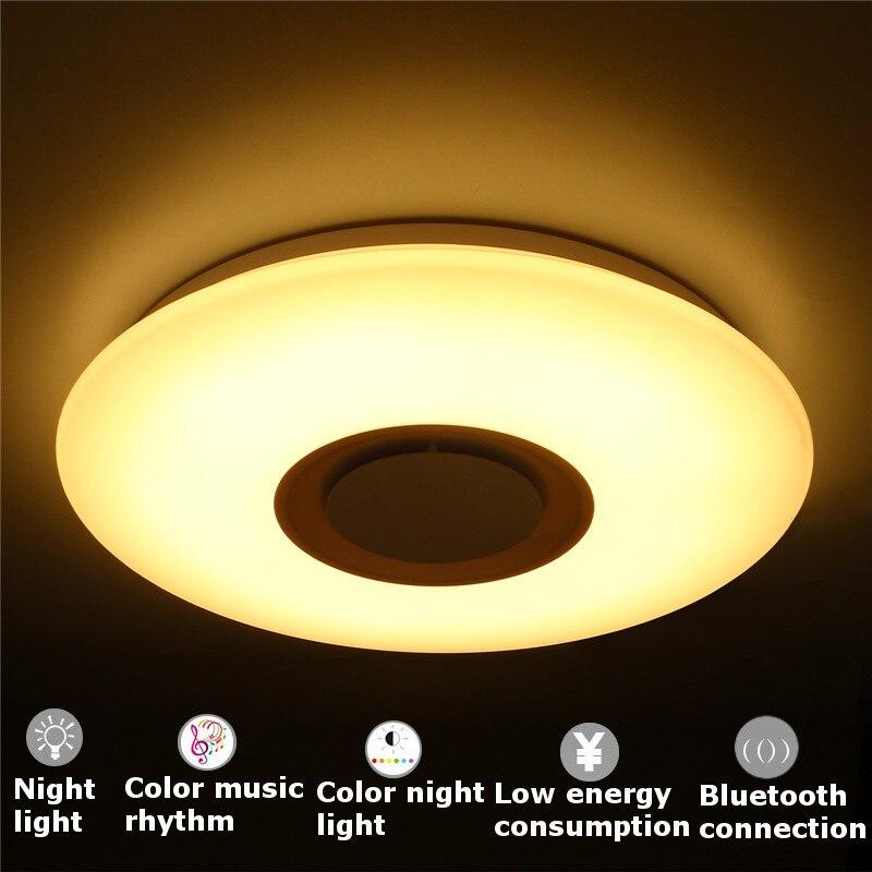 Mising приложение дистанционного потолочный освещения с Bluetooth Динамик Smart Светодиодный лампы музыка свет современные потолочные светильники