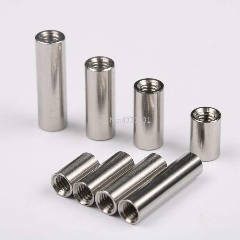 20pcs Lot M4 Screw Connect Rod Knife Handle Screw Cylindrical Nuts Connecting Pipe Rivet M4 Thread