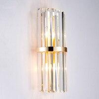 Modern Simple Creative Crystal Rod Decoration Wall Lamp Hotel Luxury Villa Bedroom Bedside Designer Wall Light