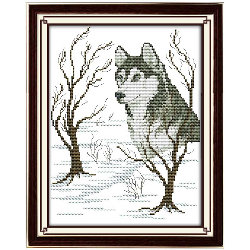 Sled dog Patterns Counted Cross Stitch 11CT 14CT Cross Stitch Set Wholesale Animals Cross-stitch Kit Embroidery Needlework